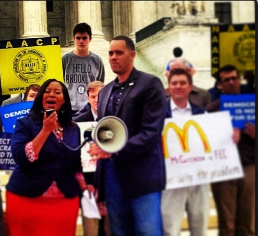 speaking at Supreme Court - circ 2013 on Voting Rights attacks.jpg
