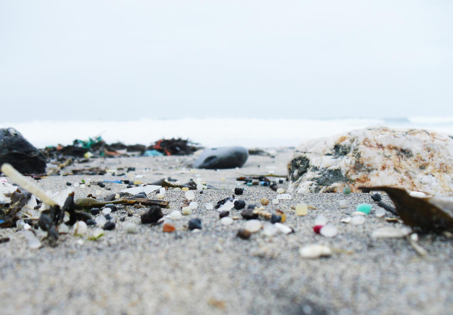 [Image caption] Microplastics on the beach. Image by    Seachair.