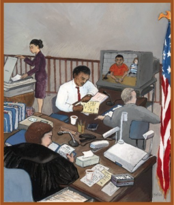 """Image from a report entitled: """"Videoconferencing in Removal Hearings: A Case Study of the Chicago Immigration Court"""" (Click image to read the report.)"""