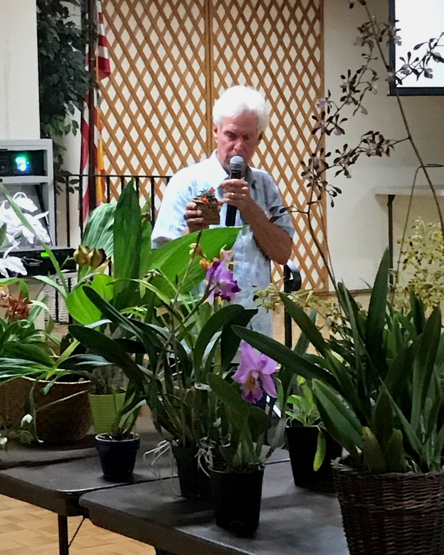 """Monthly meetings feature a guest speaker, a raffle table of donated plants and """"show and tell"""" by our members."""