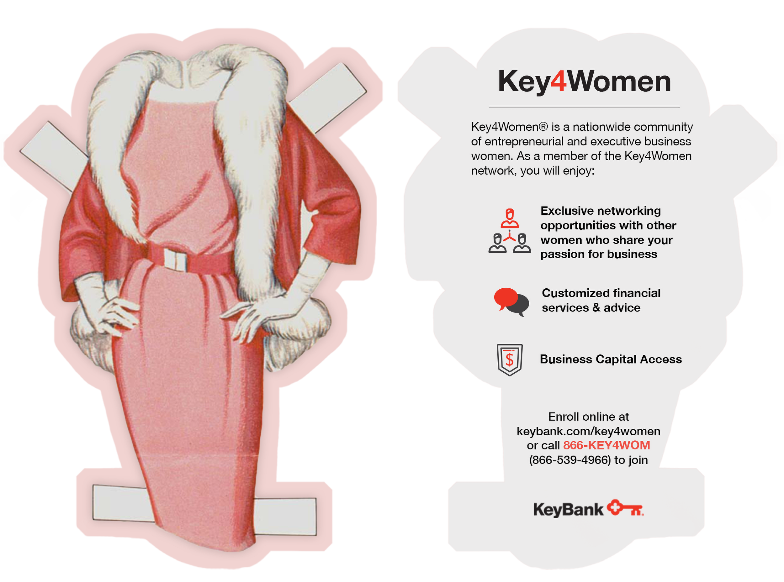 Key4Women Rack Card