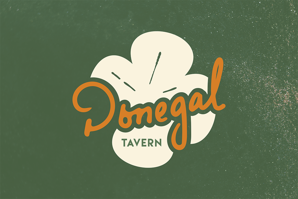 The logo for Donegal Tavern—utilizing my own handwriting