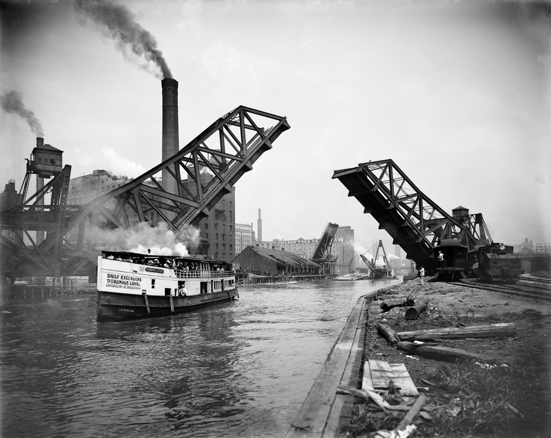 12th Street bascule bridge, Chicago, Illinois, ca. 1905