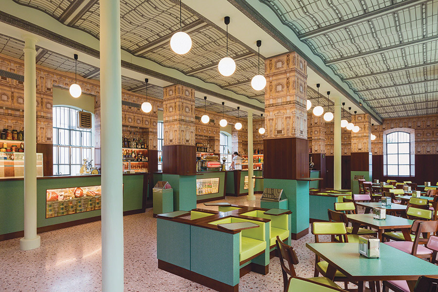 Restaurant Opening - Wes Anderson's Bar Luce Cafe at Fondazione Prada