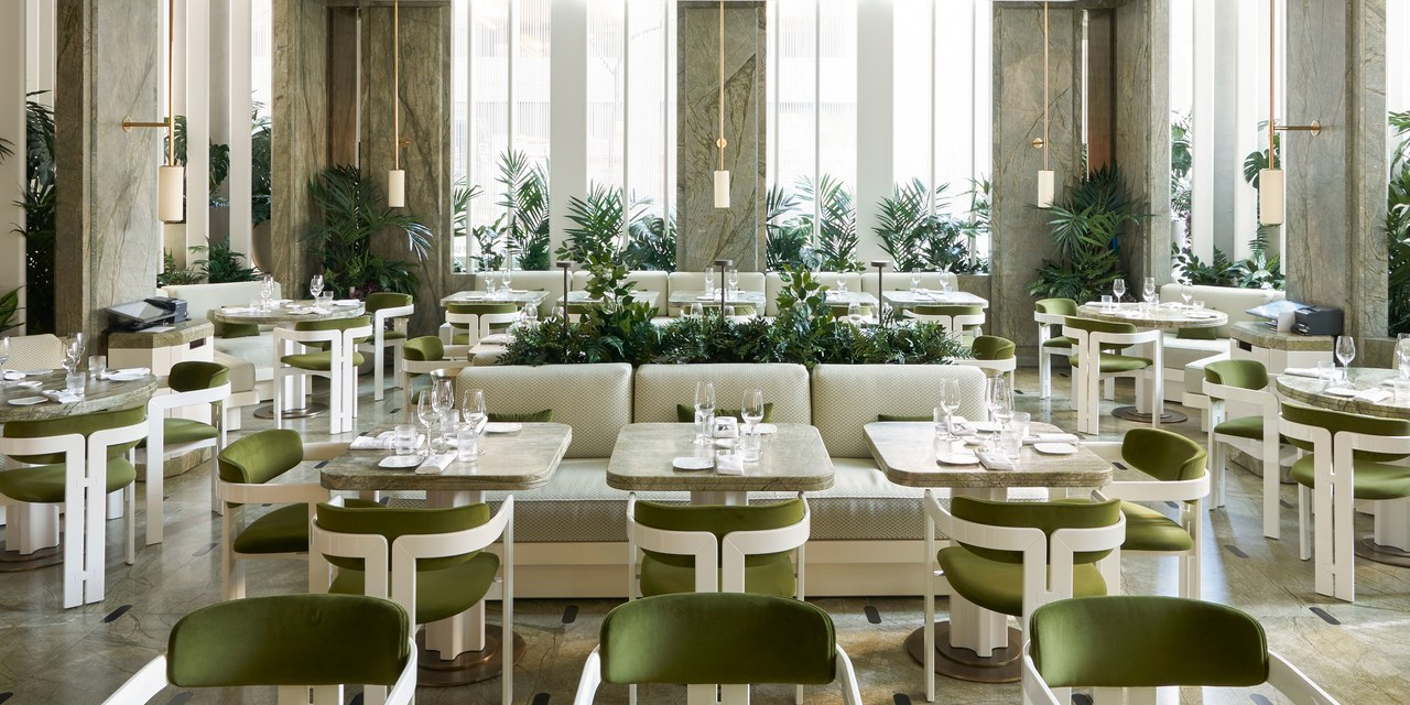 Joseph Dirand Unveils Le Jardinier, a Lush Dining Oasis in Midtown Manhattan - For the new restaurant, the AD100 architect created a greenhouse-like environment framed by the vertical louvers and alcoves of flora