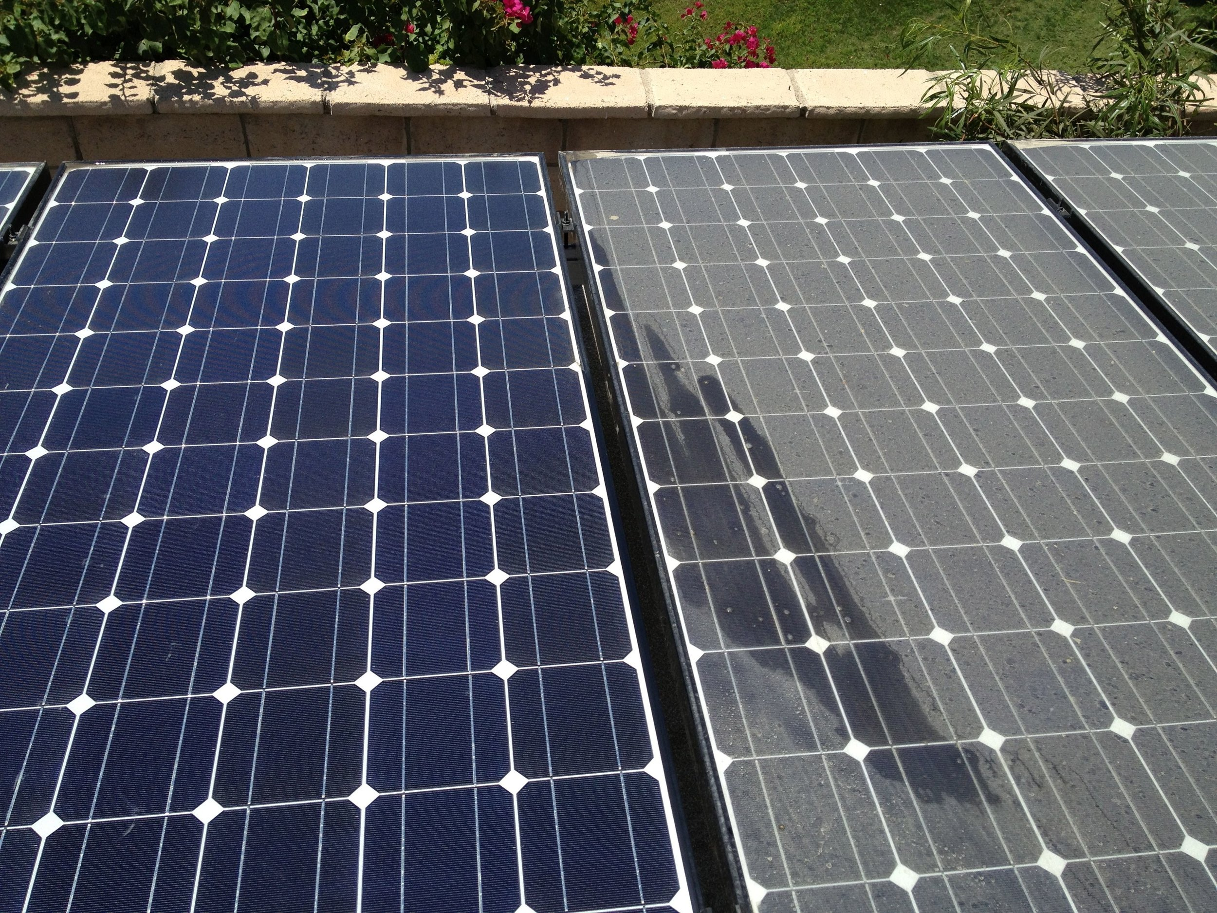Solar Panel Cleaning - Dirty solar panels can Decrease efficiency by up to 30% according to recent studies. You installed solar panels to Save Money so don't miss out on that power you could be collecting!GET A FREE QUOTE ➝