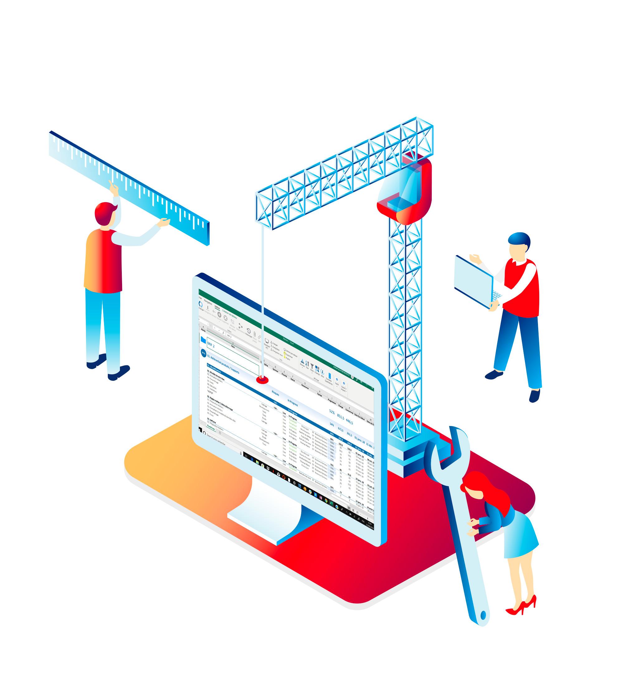 Diffusez votre méthodologie et gagnez en efficacité. - Nous offrons dans Tabsters la possibilité de structurer et de normer vos éléments avec des axes d'analyse sur l'ensemble des objets Tabsters (projets, équipes, performance, budgets …). Chaque acteur parle le même langage, le partage de l'information et la consolidation sont simplifiés.Fini les nombreux fichiers Excel fragmentés, vous travaillez tous de la même manière, avec la même norme.Nous offrons l'opportunité d'importer vos données existantes ou de connecter vos systèmes via APIs sur mesure (Excel, Jira, Planisware).