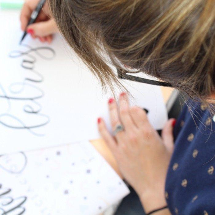 Taller de Brush Lettering - el curso más colorido
