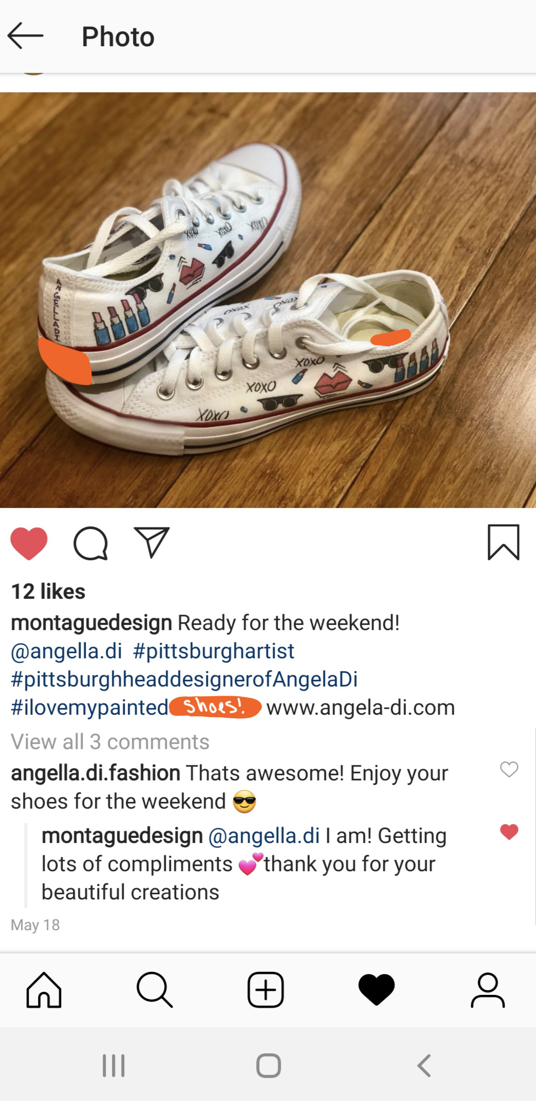 Party on in your Angella Di shoes montaguedesign!! -