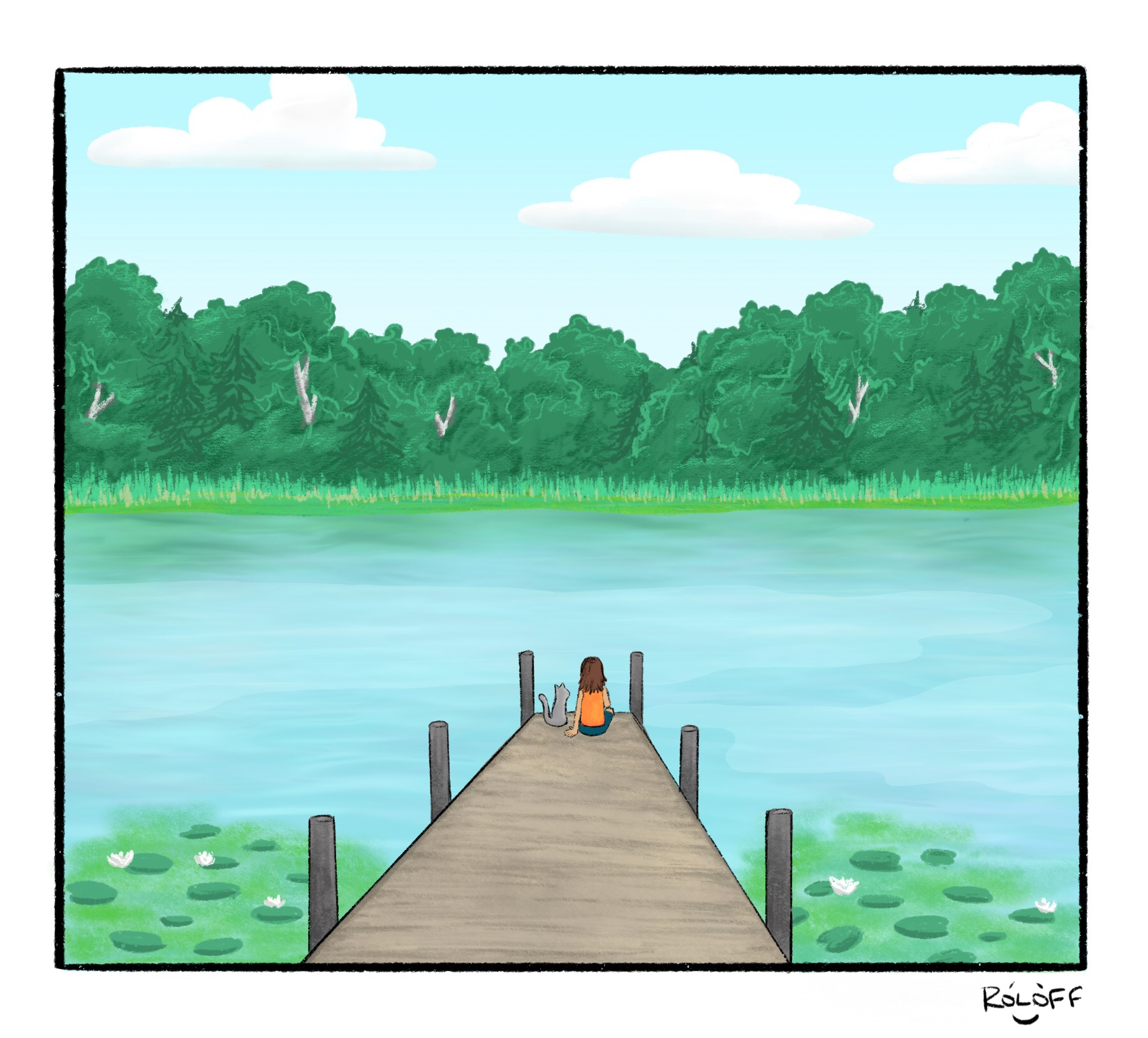 Lucy & Maverick - A lazy summer day has the unexpected in store for Lucy and her adventure cat Maverick.
