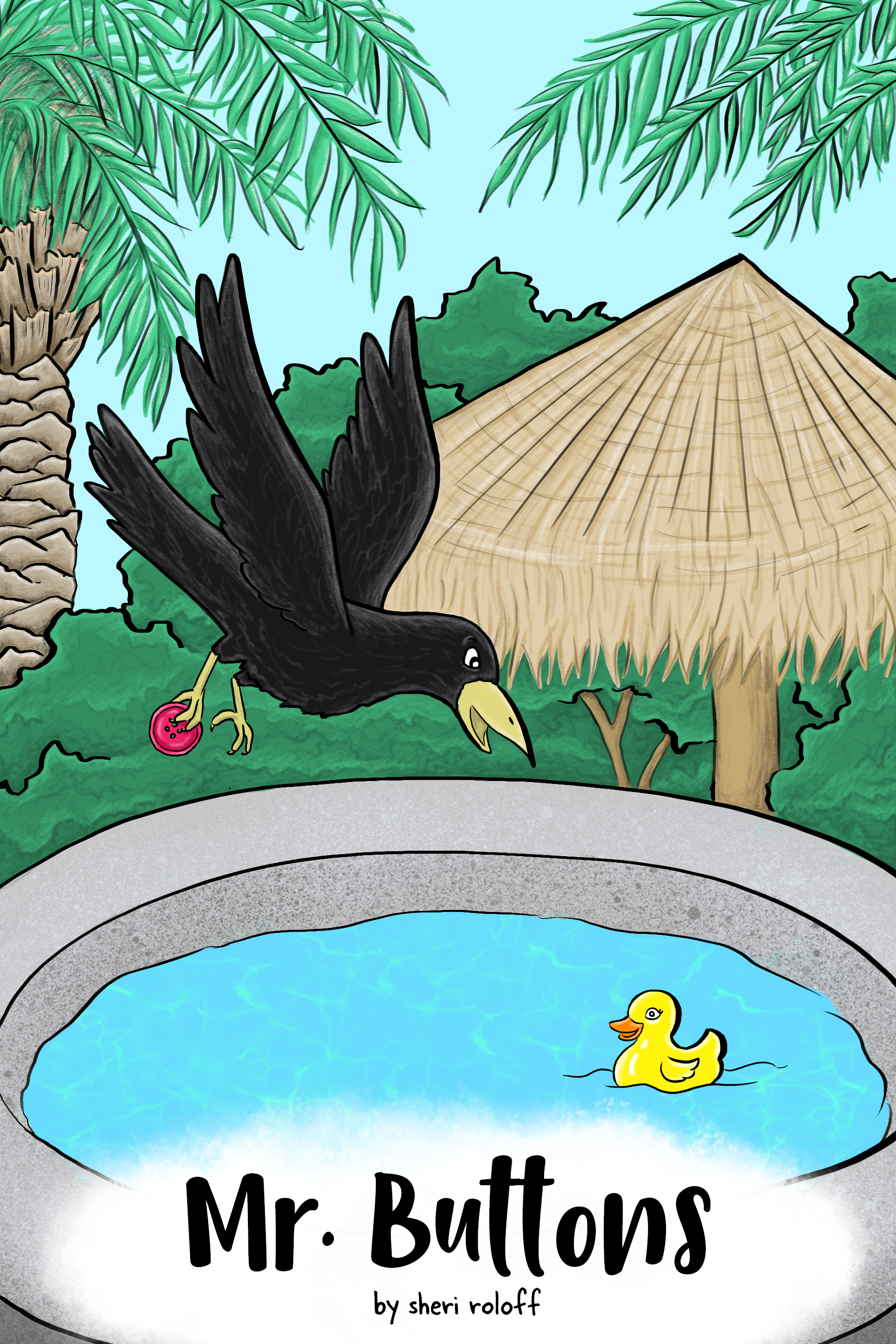 Mr. Buttons - When a smarmy crow falls in love with a duck-shaped hot tub chlorinator, things don't go as planned.