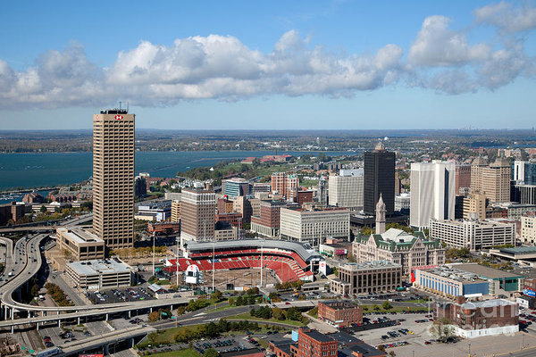 View of Buffalo, New York from above.