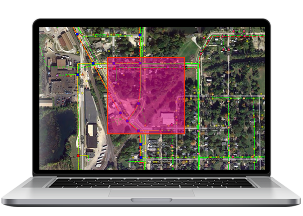 Enterprise GIS Integration - Having visual facility data readily available makes it easier to respond to a locate request. DigTrack mapping tools ensure that key GIS resources are available to field techs, providing full-featured visualization of assets and their physical relationship to any planned area of excavation.DigTrack offers a series of map clients and service connection options. Facility data can be hosted on our map server or we can connect to services that our customers publish. Basic GIS consulting services are always available to help configure the client so that styles and feature information are tailored to the task of locating.