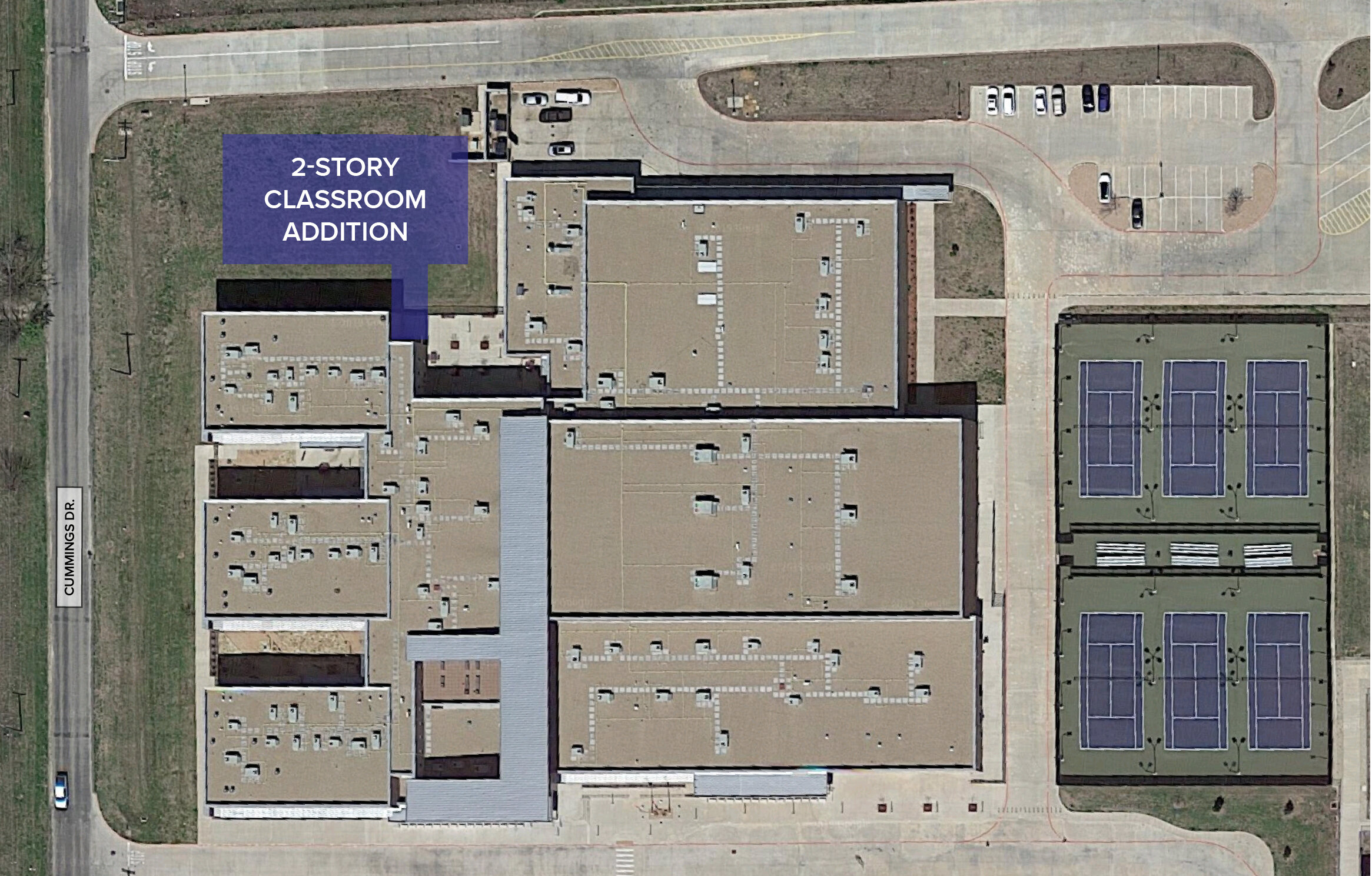 If the bond election is approved by voters in November, Alvarado Junior High will be expanded to include a new academic wing and a fine arts addition.