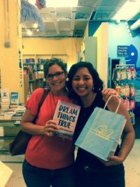 Marie and I in 2015 celebrating the release of her first book Dream Things True.