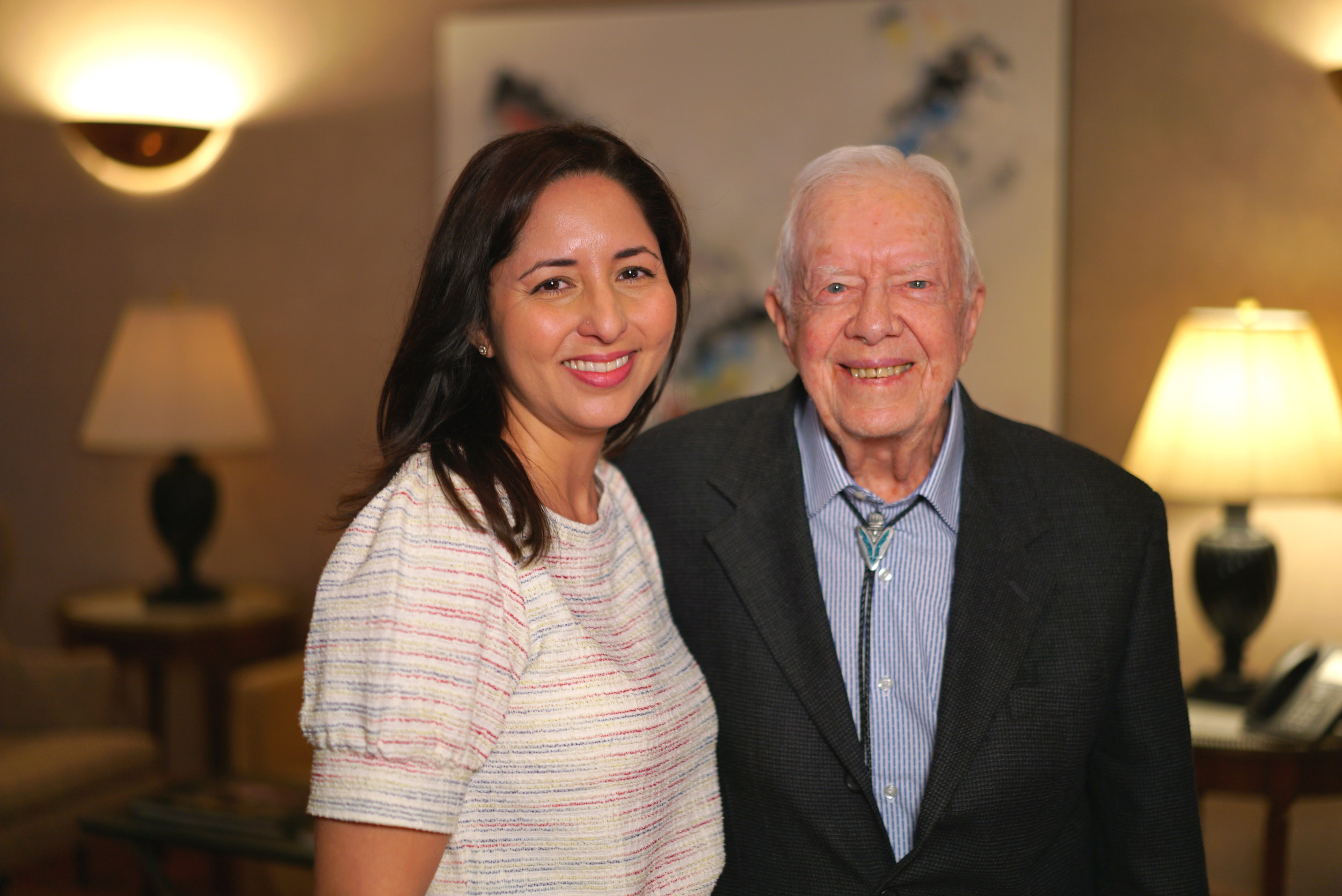 I once interviewed Pres. Jimmy Carter.