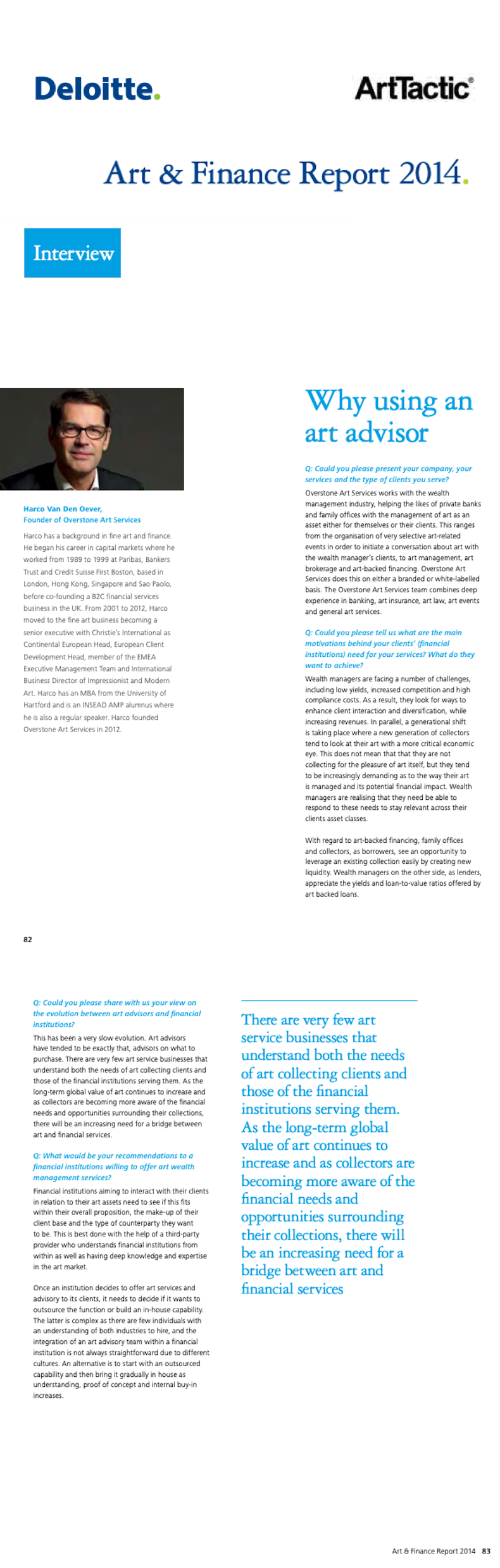 Deloitte Art & Finance Report 2014