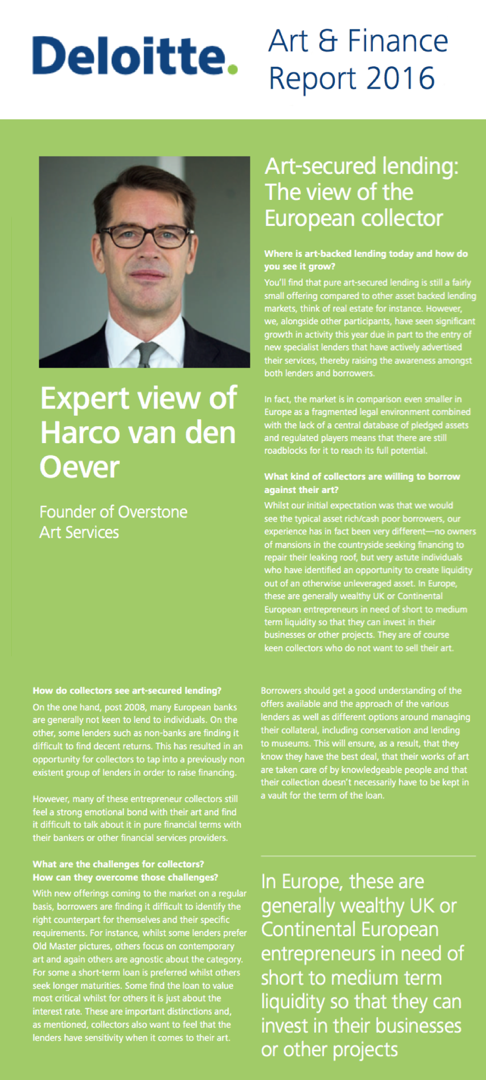 Deloitte Art & Finance Report 2016