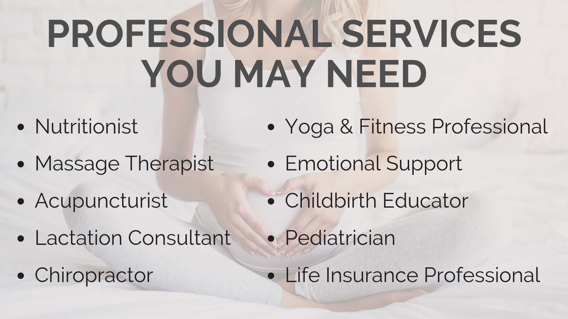 Professional Services You May Need