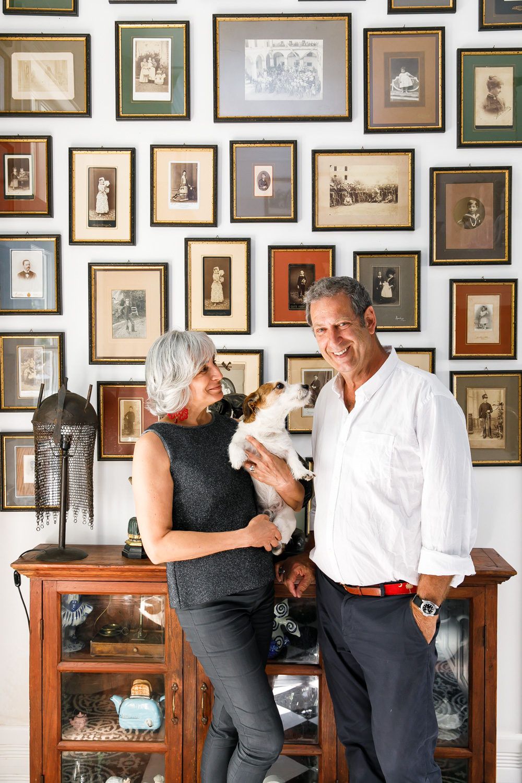 Donatella and Giulio della Porta (and Arturo), owners of Italian boutique The Hidden Countship