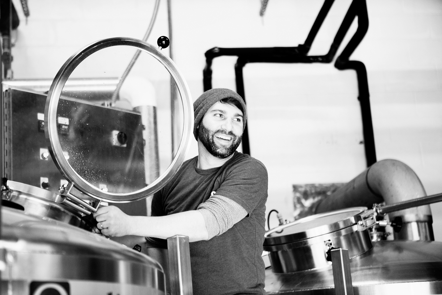 Ryan Coker, owner and head brewer of Revelry Brewing