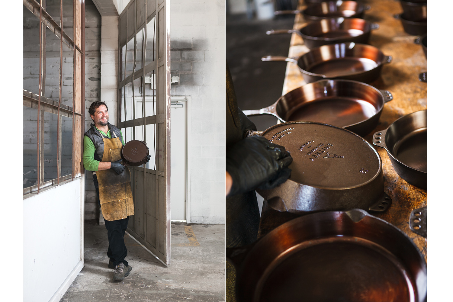 Isaac Morton, owner, Smithey Ironware Co.