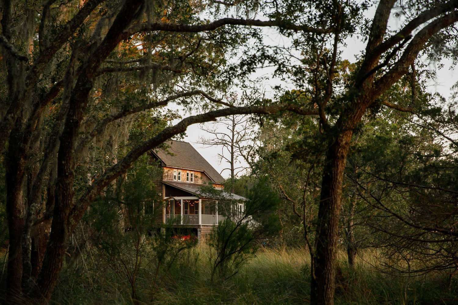 """Even Michelle Jewell is surprised that she fell in love with the marshlands that back up to her home in Wadmalaw Island, South Carolina. The island, a 10-by-6-mile haven just south of Charleston, is quieter than its neighbors, Johns and Kiawah islands; covered in marshes, woods, and live oaks; and has long been a locals-only sort of place, with little development.    Jewell, who grew up on a farm in upstate South Carolina, and her husband, Ryan Amick, have been in the Charleston area for 15 years. Over time, they inched away from the city center—moving first to James Island, and now Wadmalaw—in search of a more peaceful location to live.    """"I'm very used to quiet, open spaces and space to garden,"""" Jewell says. """"I really wanted to get out in the country again.""""    (photographed for Curbed; words by Samantha Weiss Hills)"""