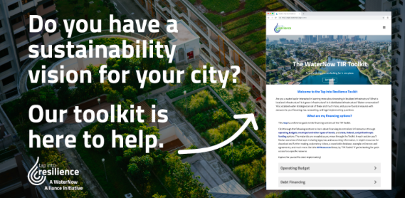 "The WaterNow Alliance toolkit with the text, ""Do you have a sustainability vision for your city?"""