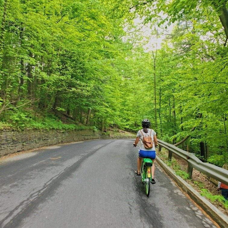 Mich biking on Ithaca's roads.JPG