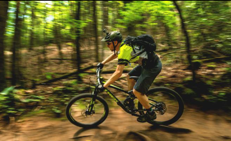 Mountain biking on the Pisgah National Forest. Forest Service photo by Cecilio Ricardo.