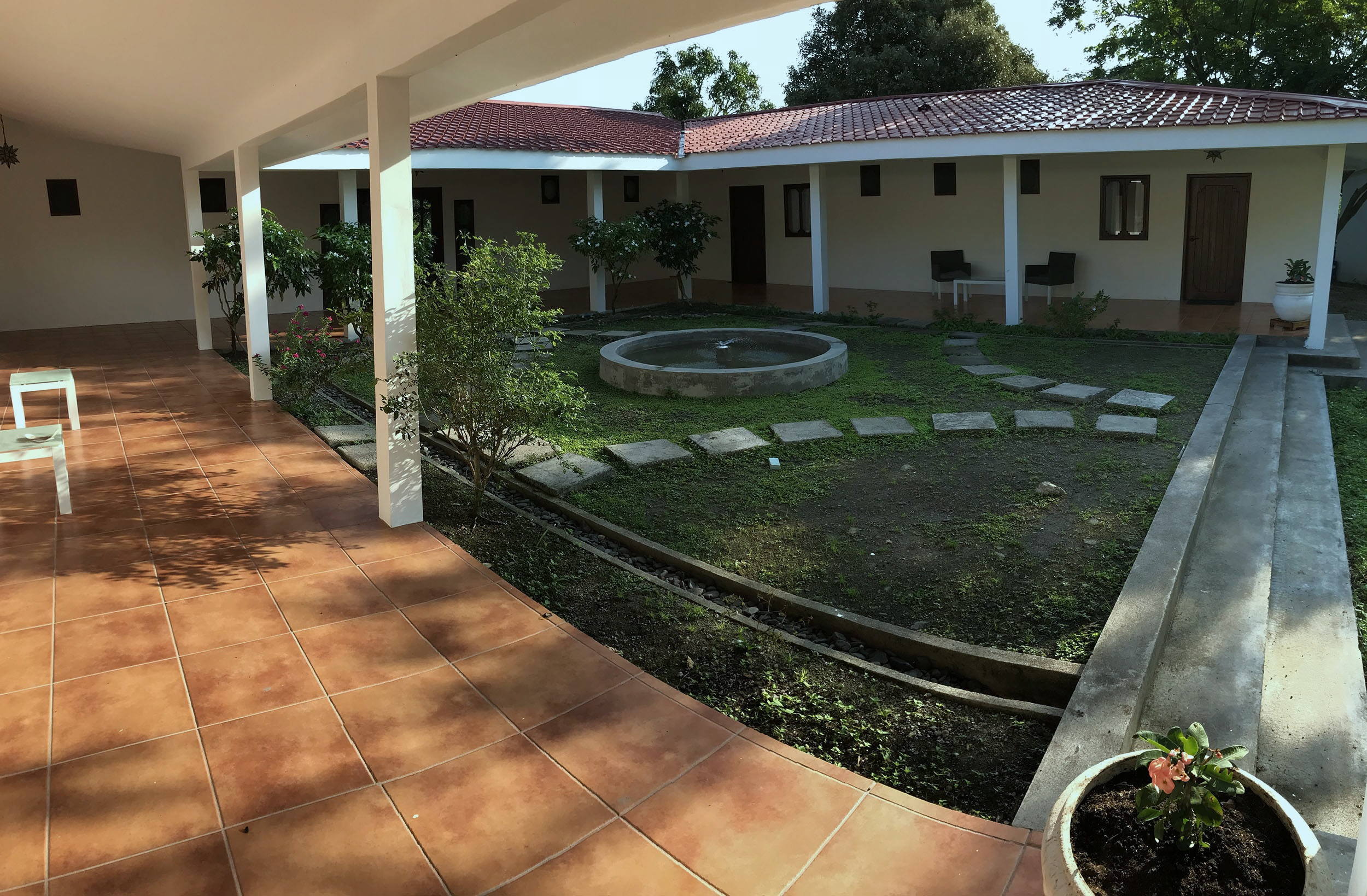 Main courtyard from room 4 entrance