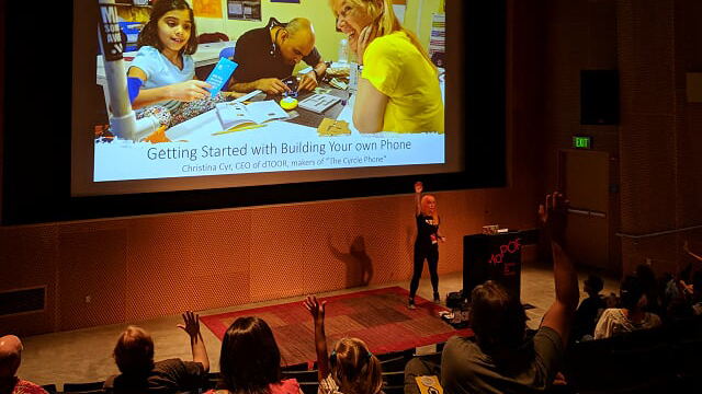 Christina Cyr has taught over 200 people how to build their own phones.