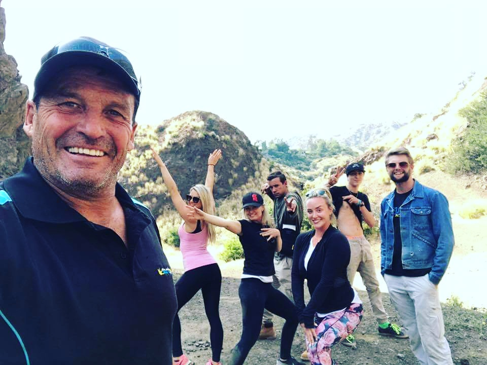 Hiking up to see the Hollywood sign with the Stunt Academy crew