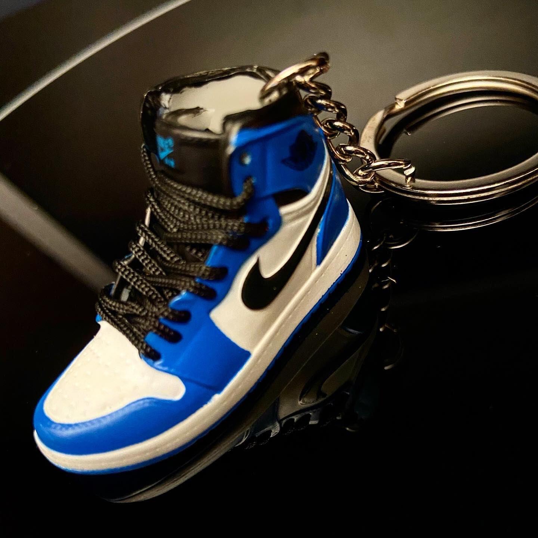 3D mini sneaker keychain Air Jordan 1 OG Royal Blue/White/Black ...
