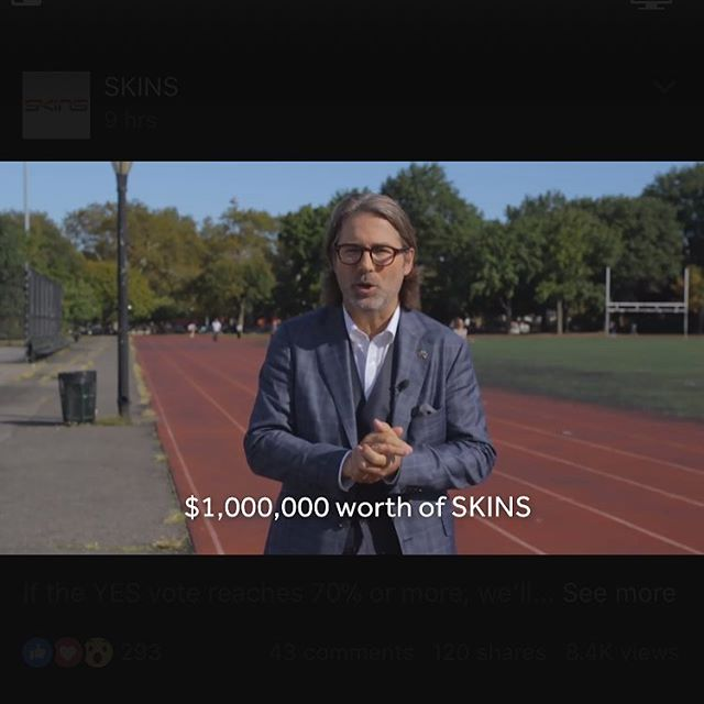 While it's great to see so many brands getting behind the YES vote, no one does it quite like SKINS!! ‪They're giving away $1 million worth of SKINS if Yes vote gets 70%!!‬ ‪Watch: skininthegame.com.au‬ ‪#SkinInTheGame‬ @skinssportswear