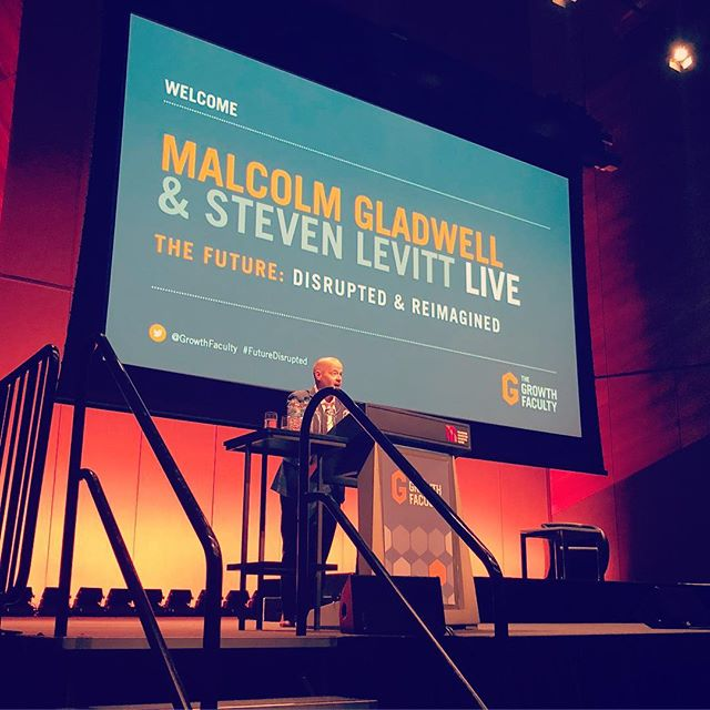 Today we're at Malcolm Gladwell and Steven Levitt #futuredisrupted @the_growth_faculty @malcolmgladwell