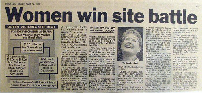 Herald Sun, March 11 1994.
