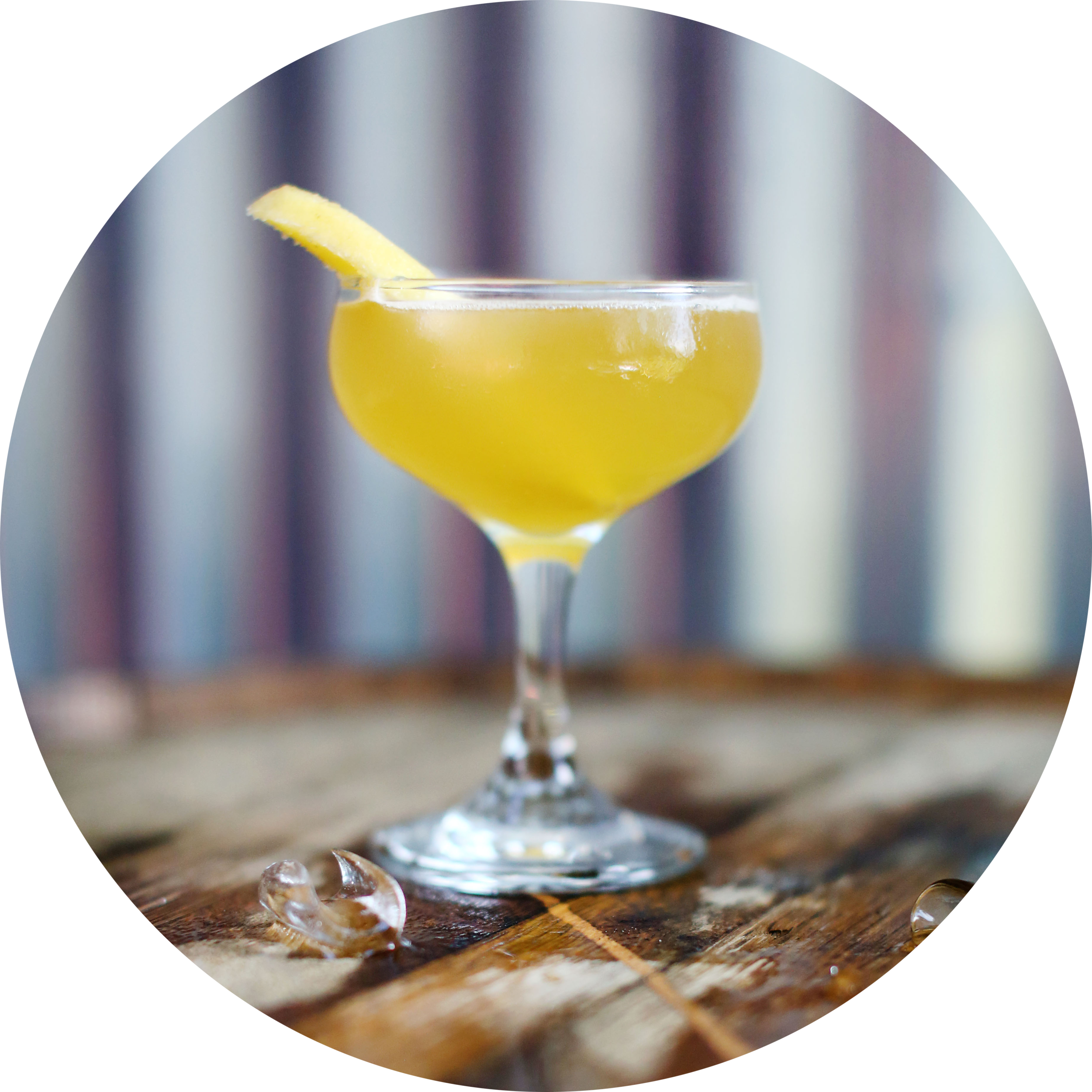 CLASSIC DAIQUIRI   2oz Crystal Rum  1 oz Fresh lime Juice  .5oz Simple Syrup (1:1)    Shaken, Served Up