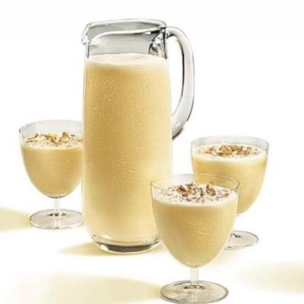 EGGNOG   12oz Eggnog  4oz Amber Rum    Serve chilled
