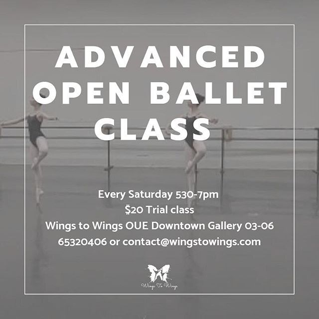 *NEW CLASS* Advanced Open Ballet 👯‍♀️ Starting this Saturday @ 5:30-7pm • Train under Kwa Chze Siang who is detailed and emphasises precision • Students will need to have at least 5 years of dance experience at Intermediate level or passed RAD Intermediate Foundation. — Tag someone who should sign up for this! 👇👇