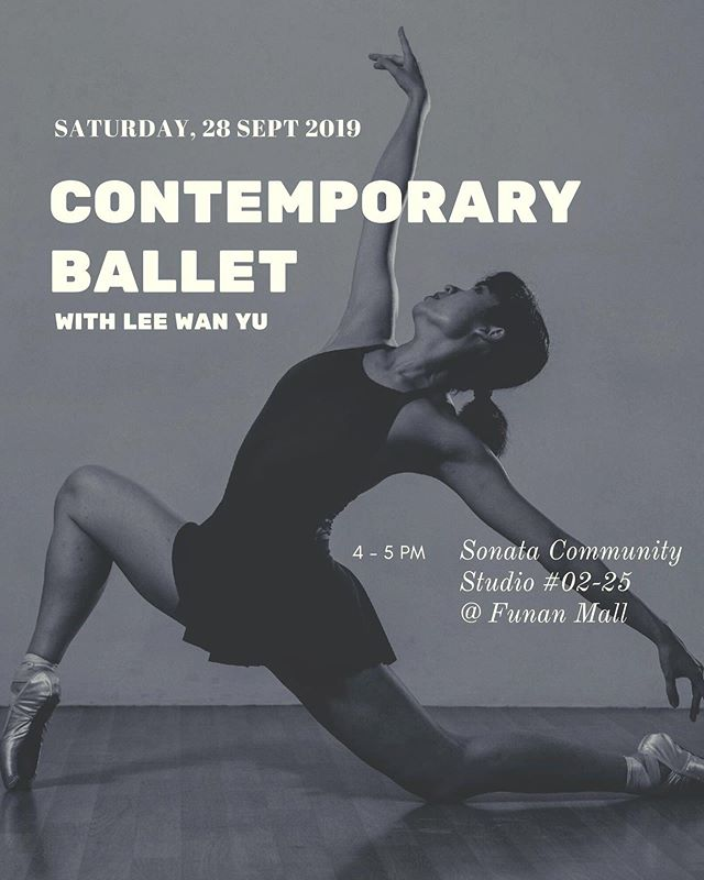 🎉 G I V E A W A Y 🎉  Wings To Wings will be running our first Contemporary Ballet Workshop @ Funan Mall on Saturday, 28 Sep 2019, 4 - 5 PM. We would love for you to join us, so we are giving away 10 tickets to the workshop! To win tickets for you and a friend, simply: 1) Follow us on Facebook and Instagram @wingstowingsdance 2) Tag a friend to bring with you 3) Repost this on your Instagram stories and tag us @wingstowingsdance #wingstowingsdance  Winners will be announced on 23 Sep 2019! All the best! 👯‍♀️ -- More details about the event can be found on our website www.wingstowings.com and our Facebook event.