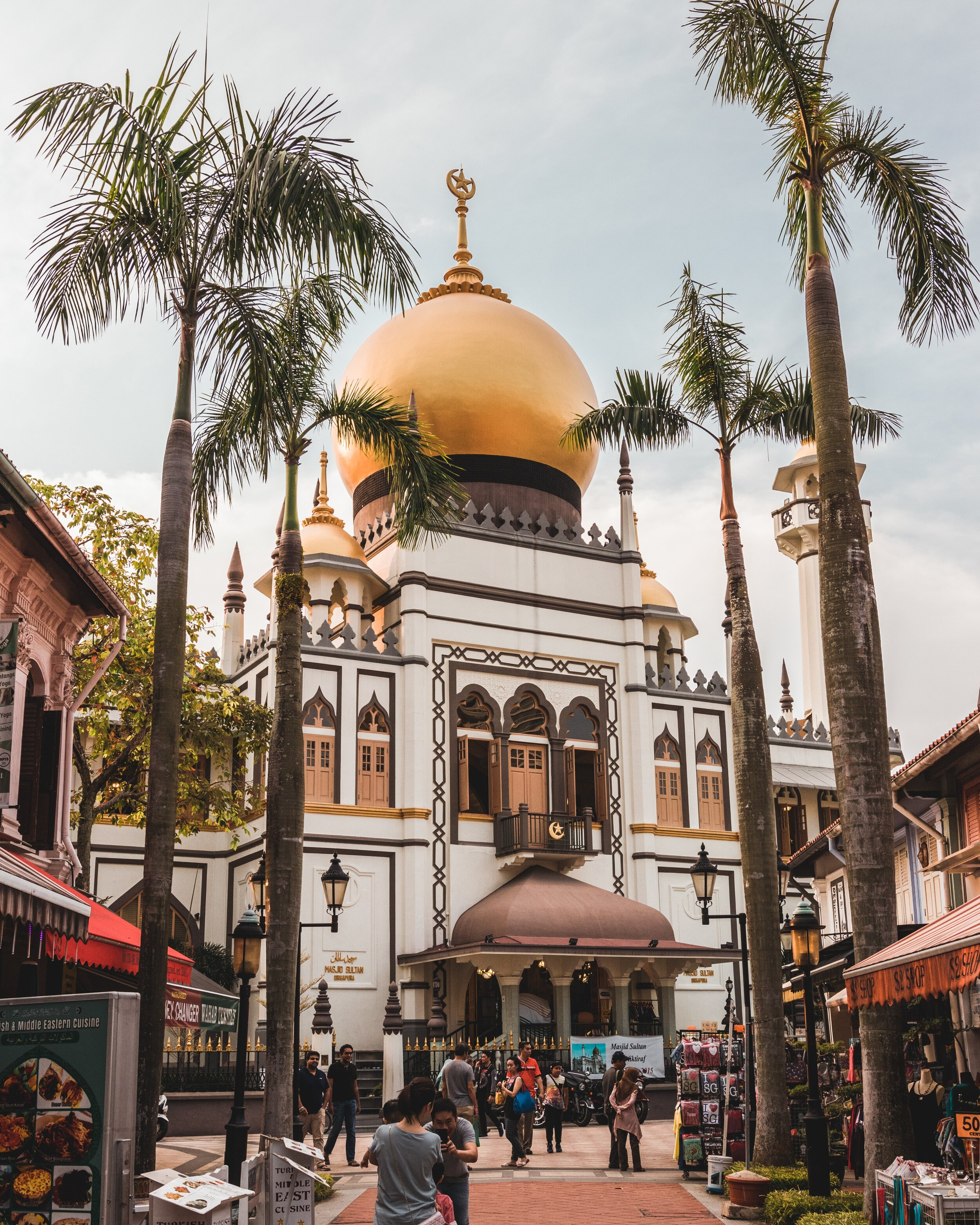 Kampong Glam neighborhood in Singapore