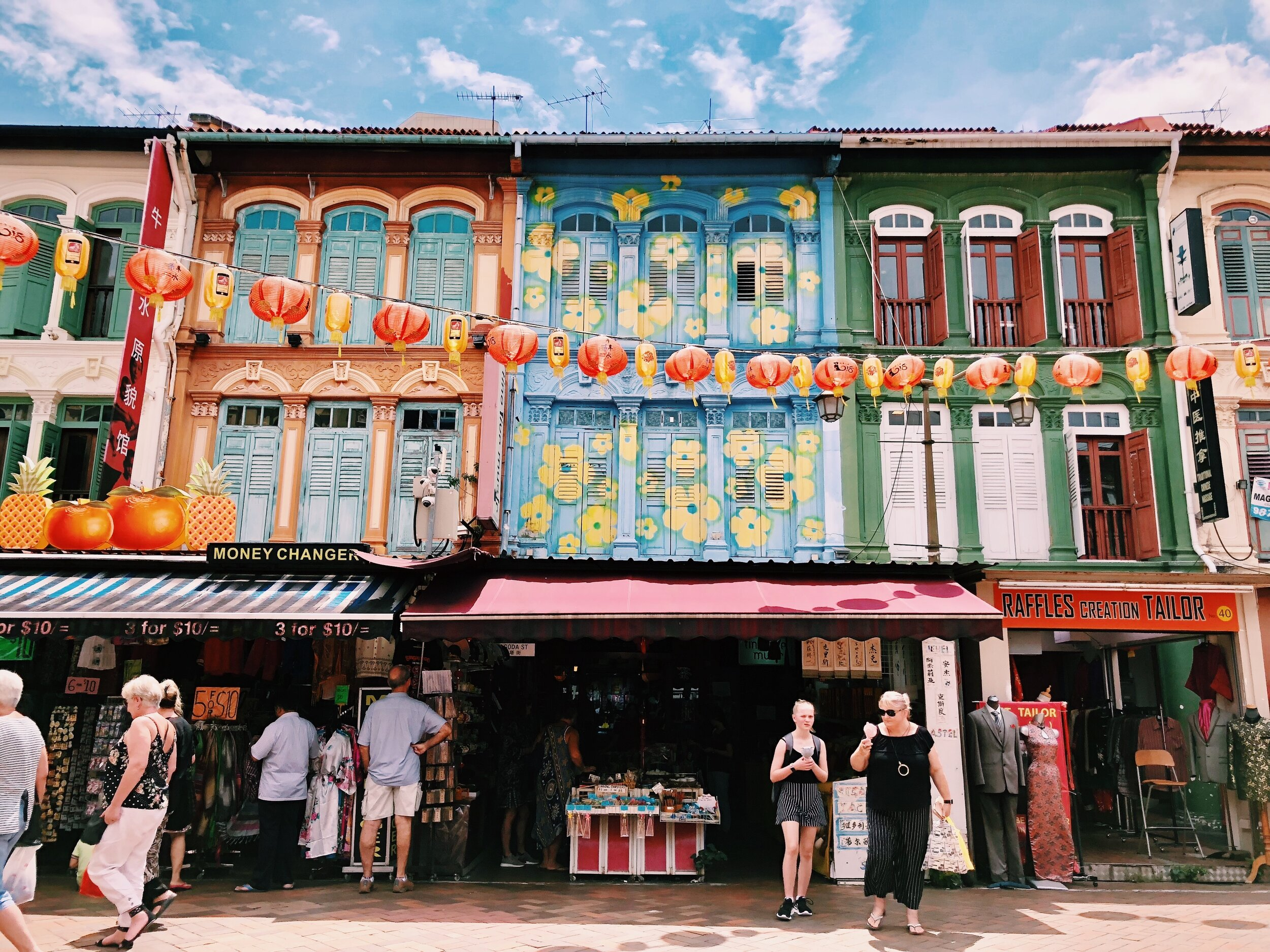 Traditional shophouses in Chinatown, Singapore