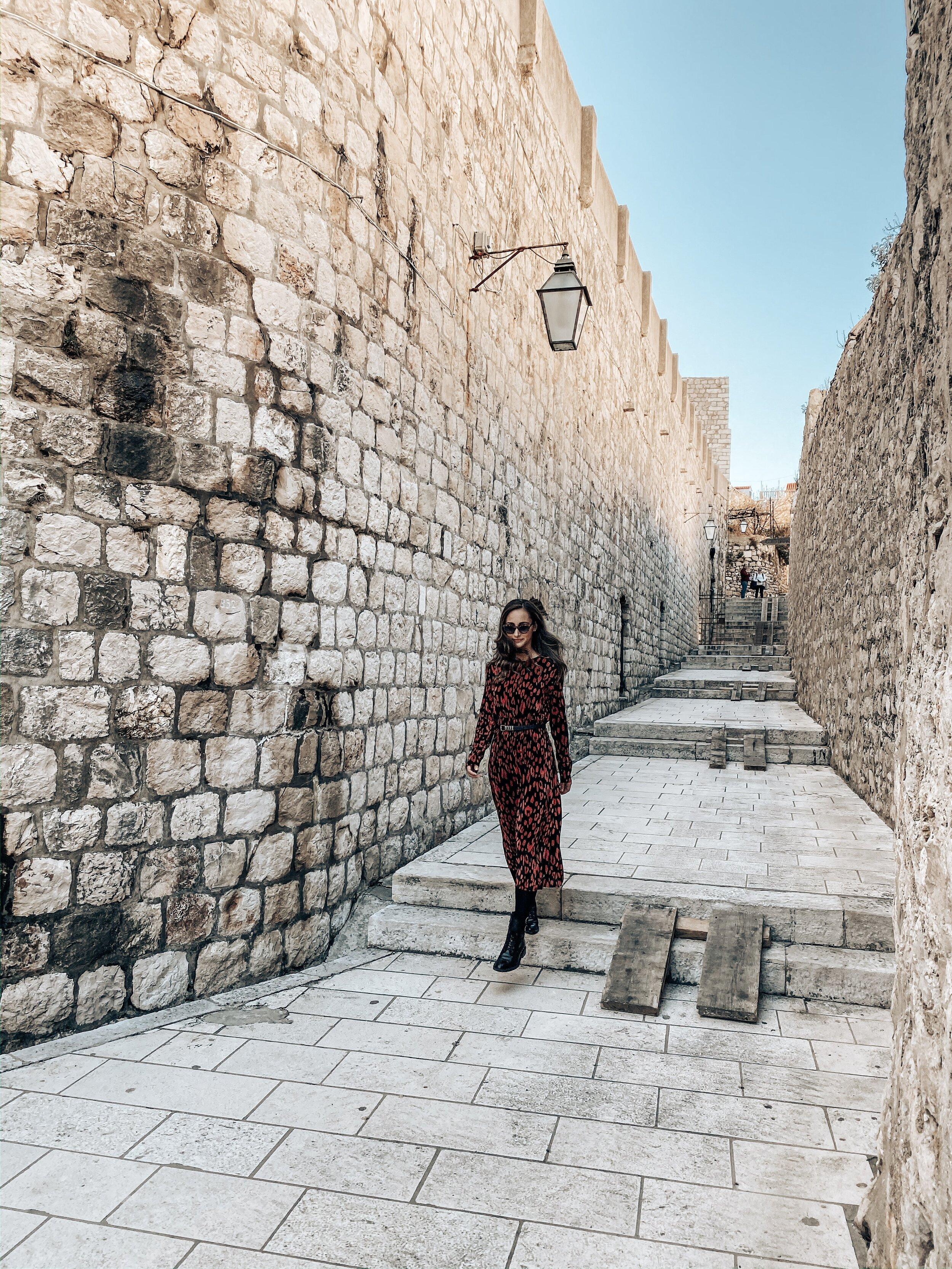 Walking around Dubrovnik Croatia