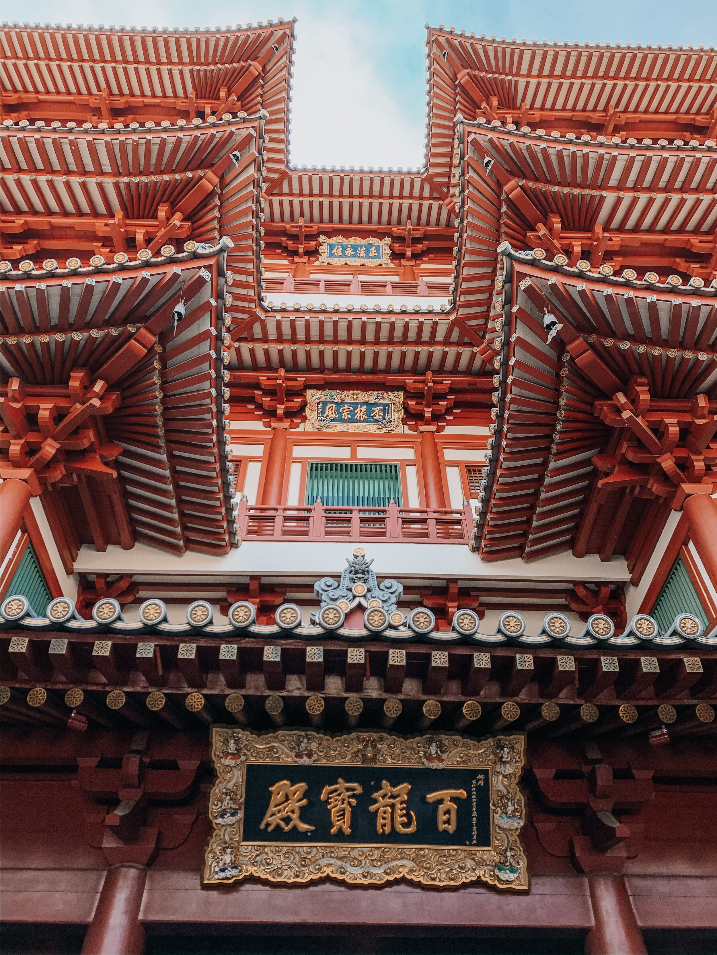 Buddha Tooth Relic Temple in Chinatown Singapore