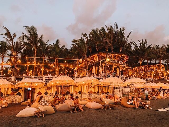 Our favorite Bali sunset-watching spot.? • We came here on our first night in Canggu, not knowing what to expect, and instantly felt like we were part of the community. That's when I knew I was made for this island.? • Now just gotta convince Hrv it's a good idea to move...?