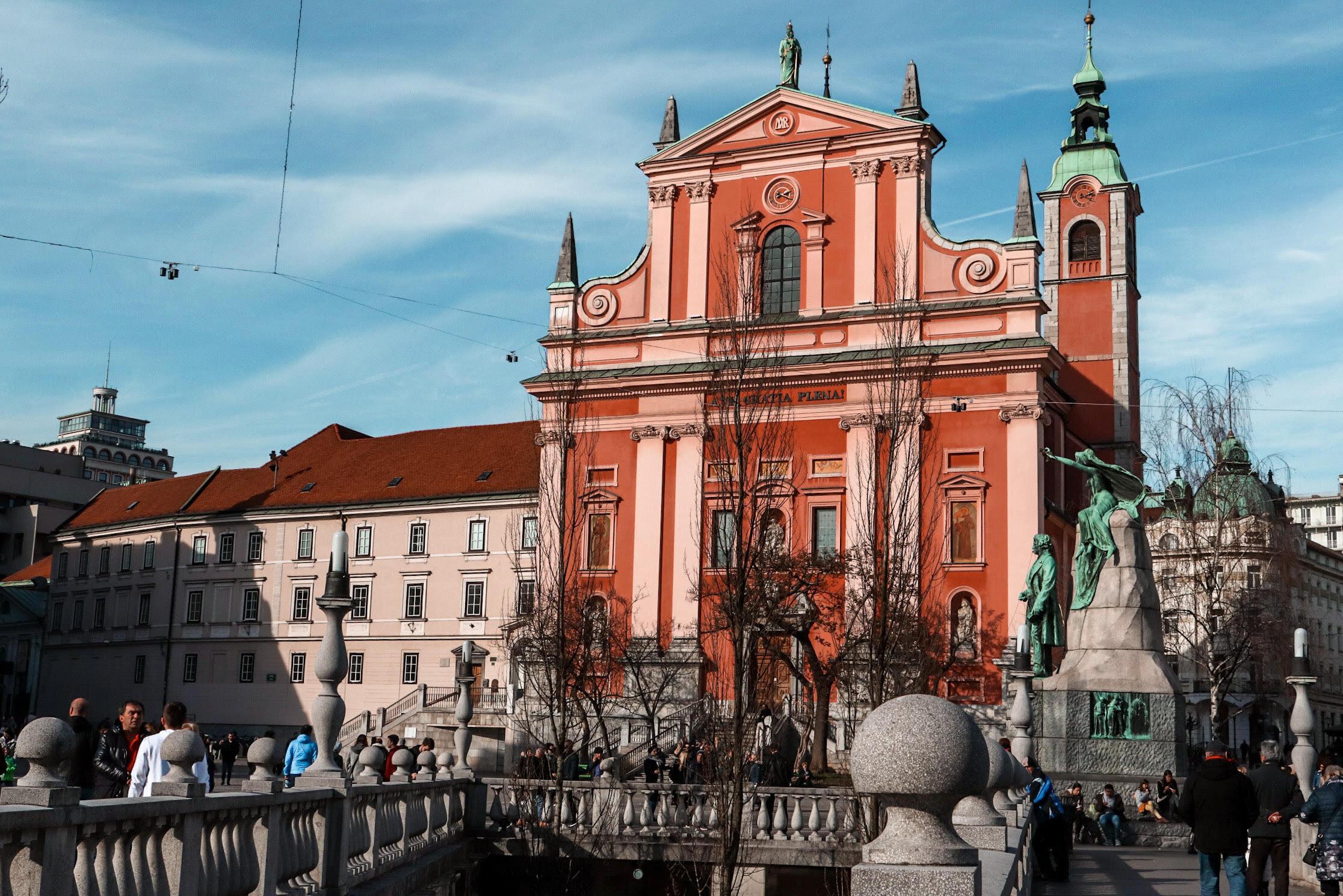 Preresen Square in Ljubljana, Slovenia
