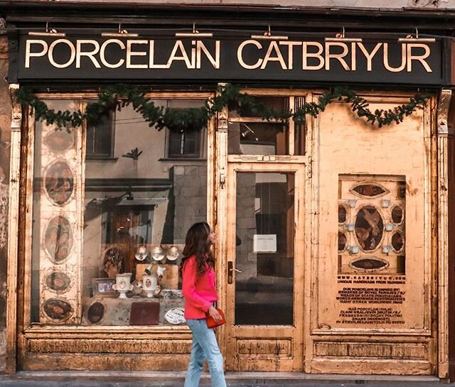 This storefront was just too beautiful not to photograph! • Ljubljana is filled with the most adorable boutiques - you can find everything from handmade ceramics to antique vinyl records to vintage shops on every corner. If you have a little time to peruse the shops, I promise you'll find some unique treasures to bring back home!