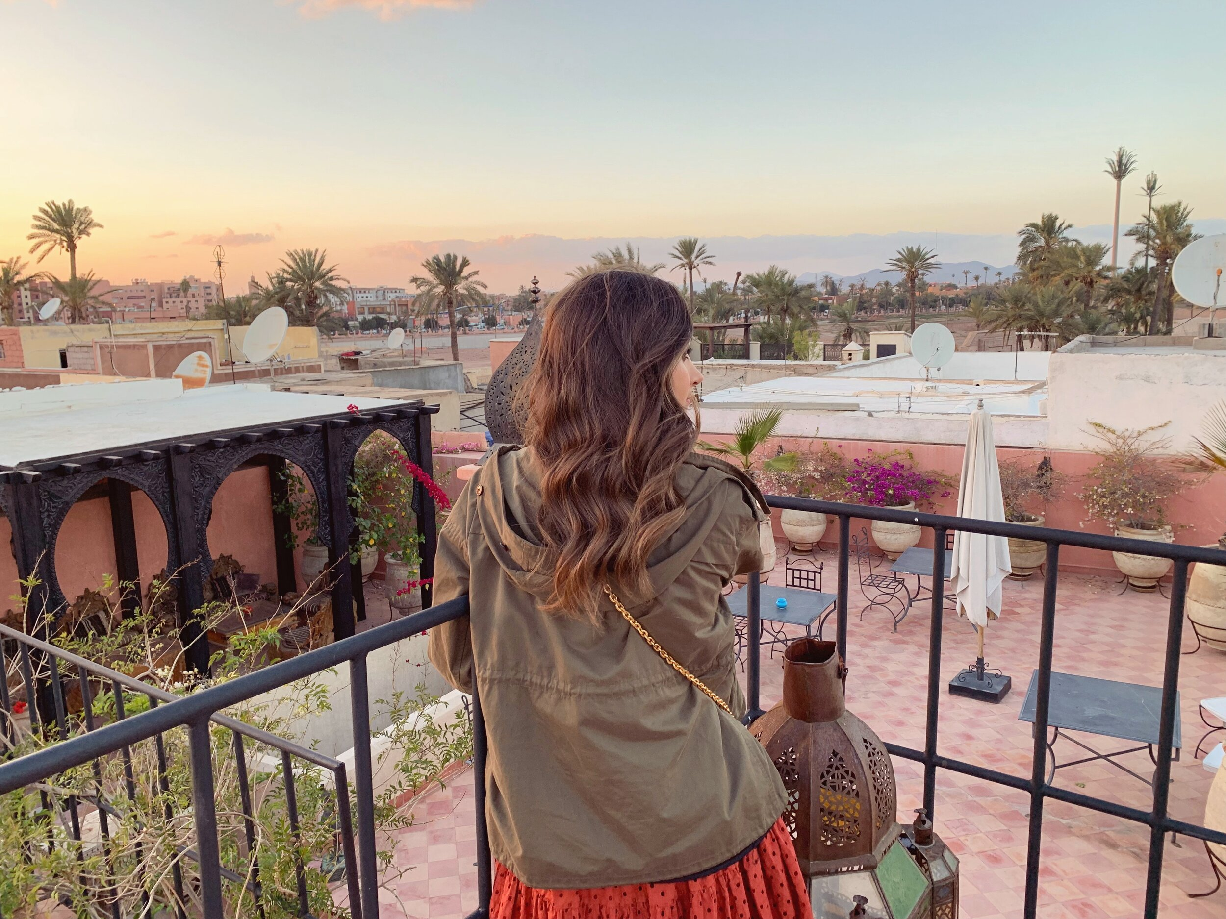 View from a riad in Marrakech Morocco - 7 Tips for Taking Photos in a Busy City