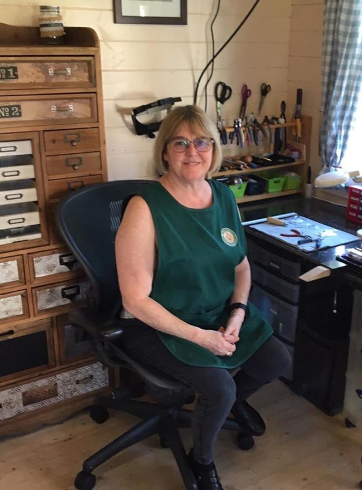 Ann in her studio